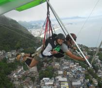 Hang Gliding over Vidigal Favela & 2 brothers peak