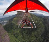 Hang Gliding high above Tijuca National Park, Rio de Janeiro